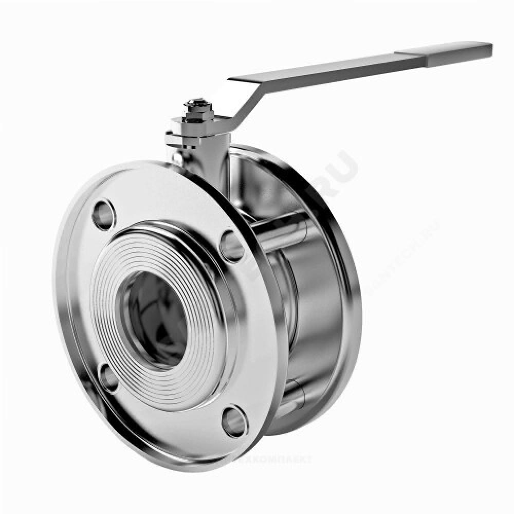 Кран шаровой стальной Стриж Ду 32 Ру16 межфланцевый полнопроходной оцинкован L=52мм LD 032.016.02.Zn