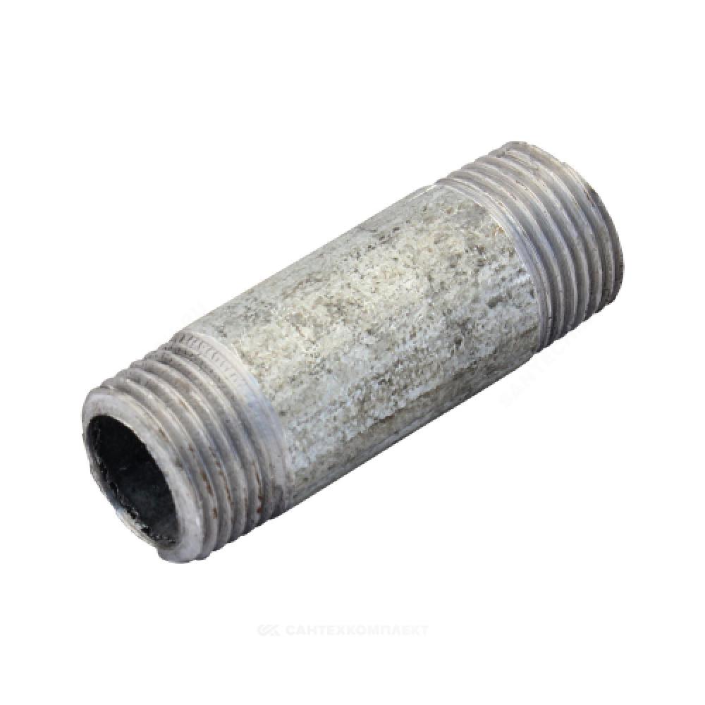 Бочонок стальной оцинкованный Ду 25 L=60мм из труб по ГОСТ 3262-75
