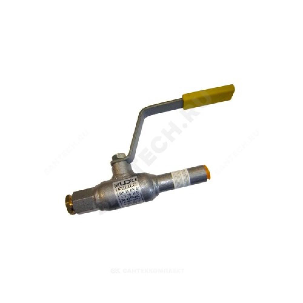 Кран шаровой стальной КШ.Ц.С Ду 15 Ру40 под приварку спускной LD КШ.Ц.С.015.040.Н/П.02