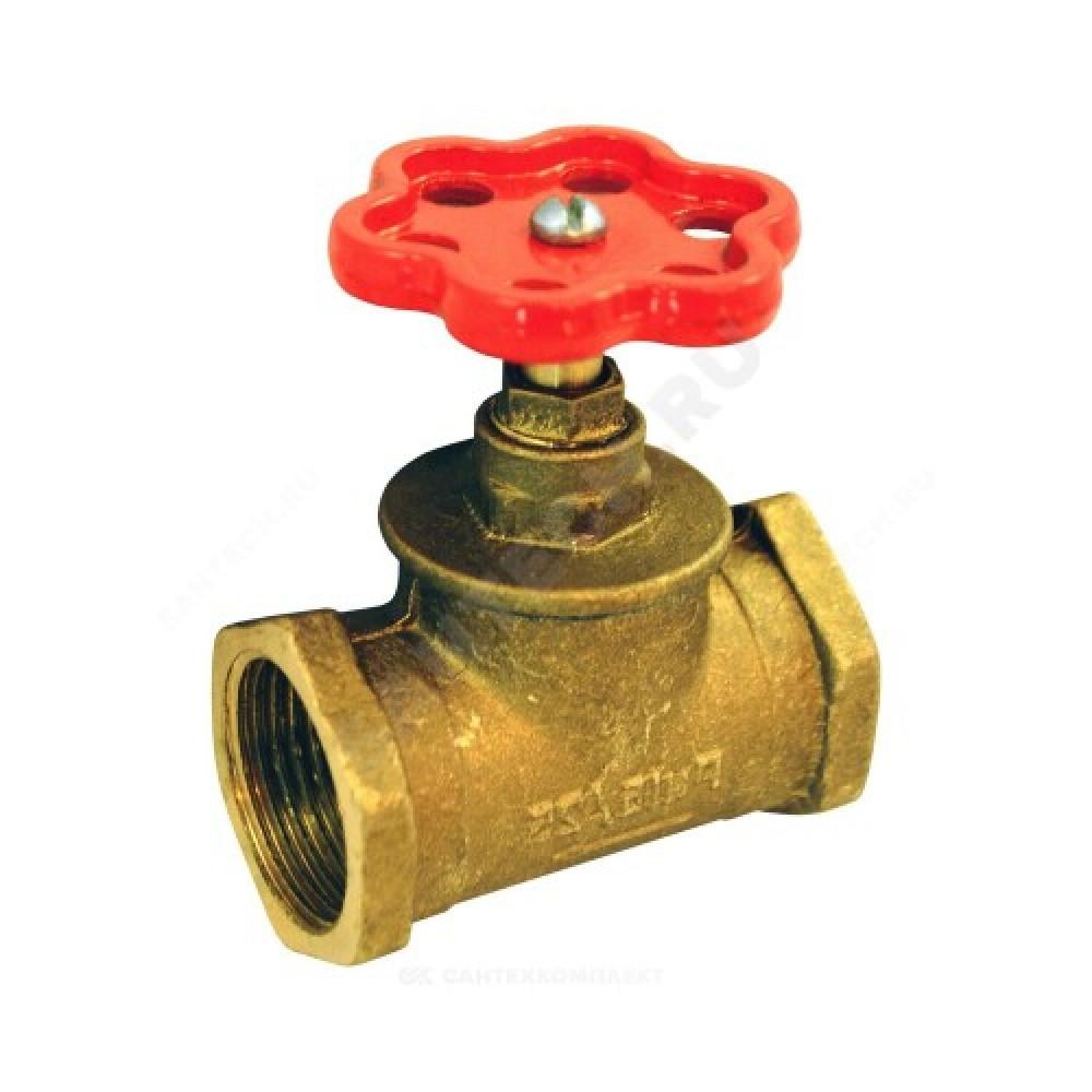 Клапан запорный латунный 15б1п Ду 20 Ру16 ВР прямой ВЛМЗ Б1112ПА