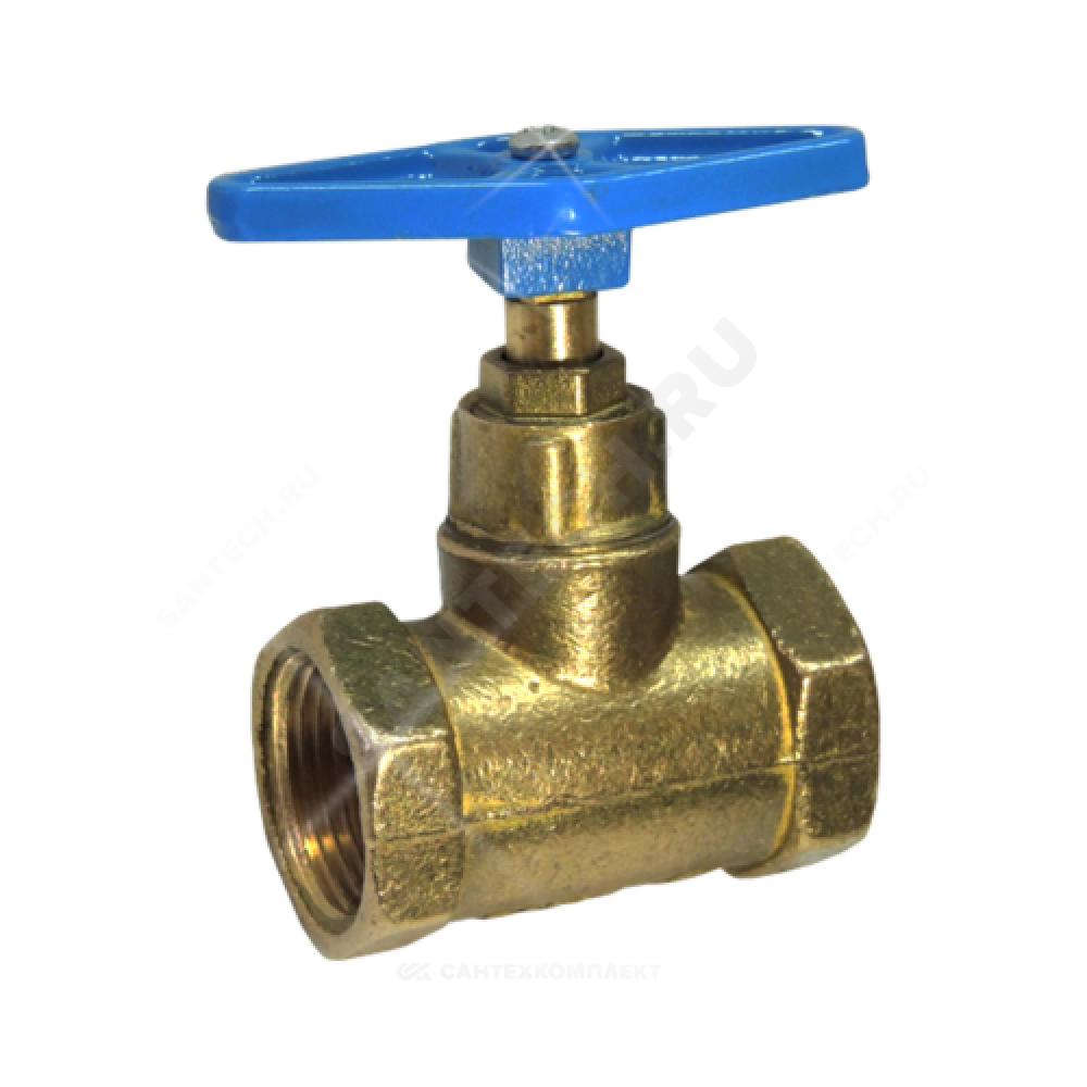 Клапан запорный латунный 15б3р Ду 15 Ру16 ВР прямой ТУ 206-3973235-01-93 Цветлит ZW20004