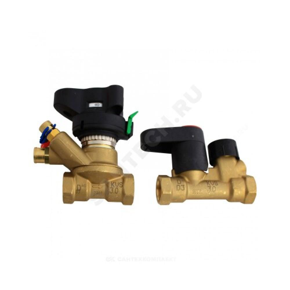 Комплект клапанов балансировочных ручной латунь MVT/MSV-S Ду 50 Ру20 ВР Kvs=40м3/ч Danfoss 003Z4156