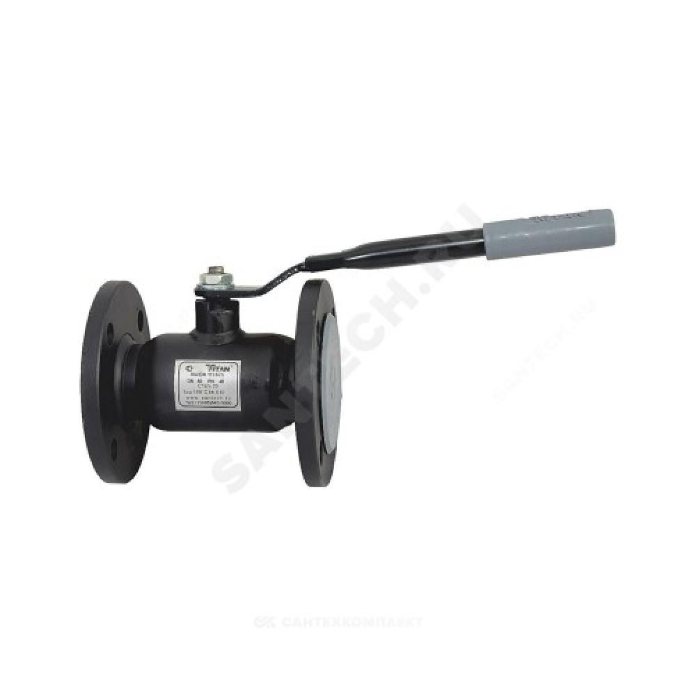 Кран шаровой стальной 11с67п Ду 25 Ру40 фланцевый Titan 2ЦФ.00.1.040.025