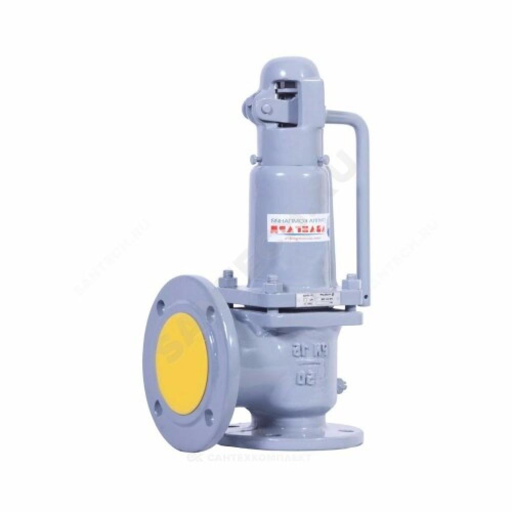 Клапан предохранительный пружинный угловой сталь 17с28нж Ду50х80 фл/фл Рн=3.5...7бар 450С Арма-Пром