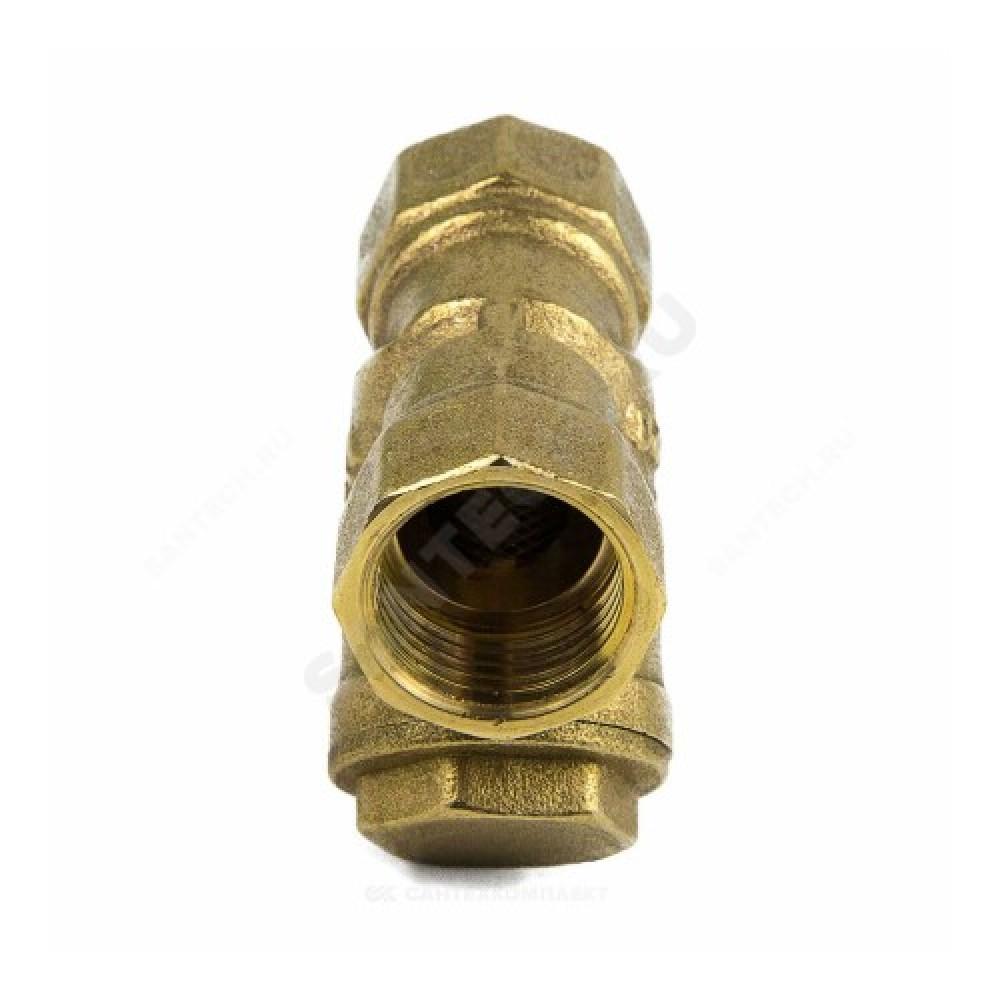 """Фильтр сетчатый Y-образный латунь Ду 32 Ру20 G1 1/4"""" ВР 4001 с отверстием под пломб Aquasfera 4001-04"""