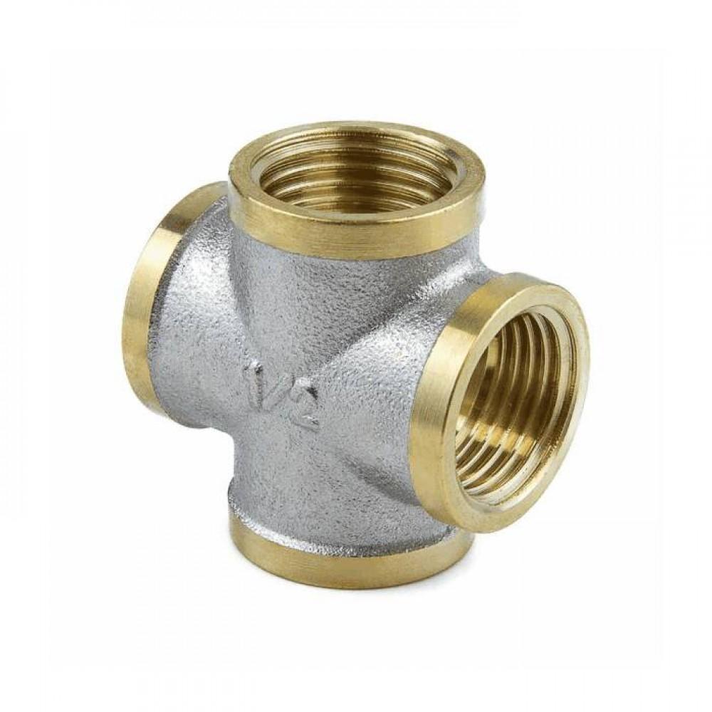 Крестовина лат Ду15 м/м никель Aquasfera 9011-01