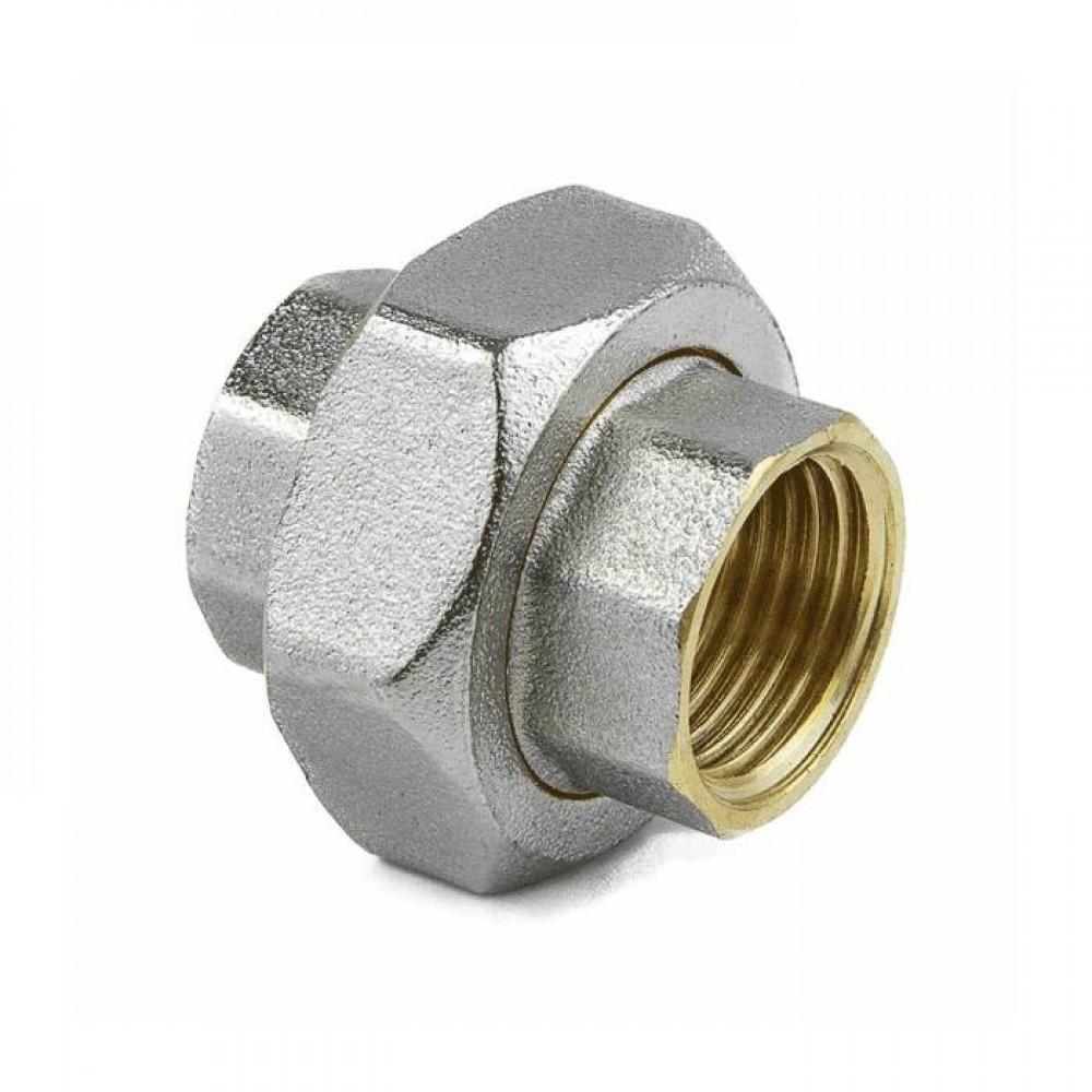 Соединитель лат американка Ду15 м/м никель Aquasfera 9012-01