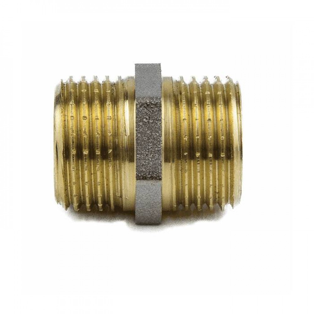 Ниппель лат Ду32 НР никель Aquasfera 9022-04