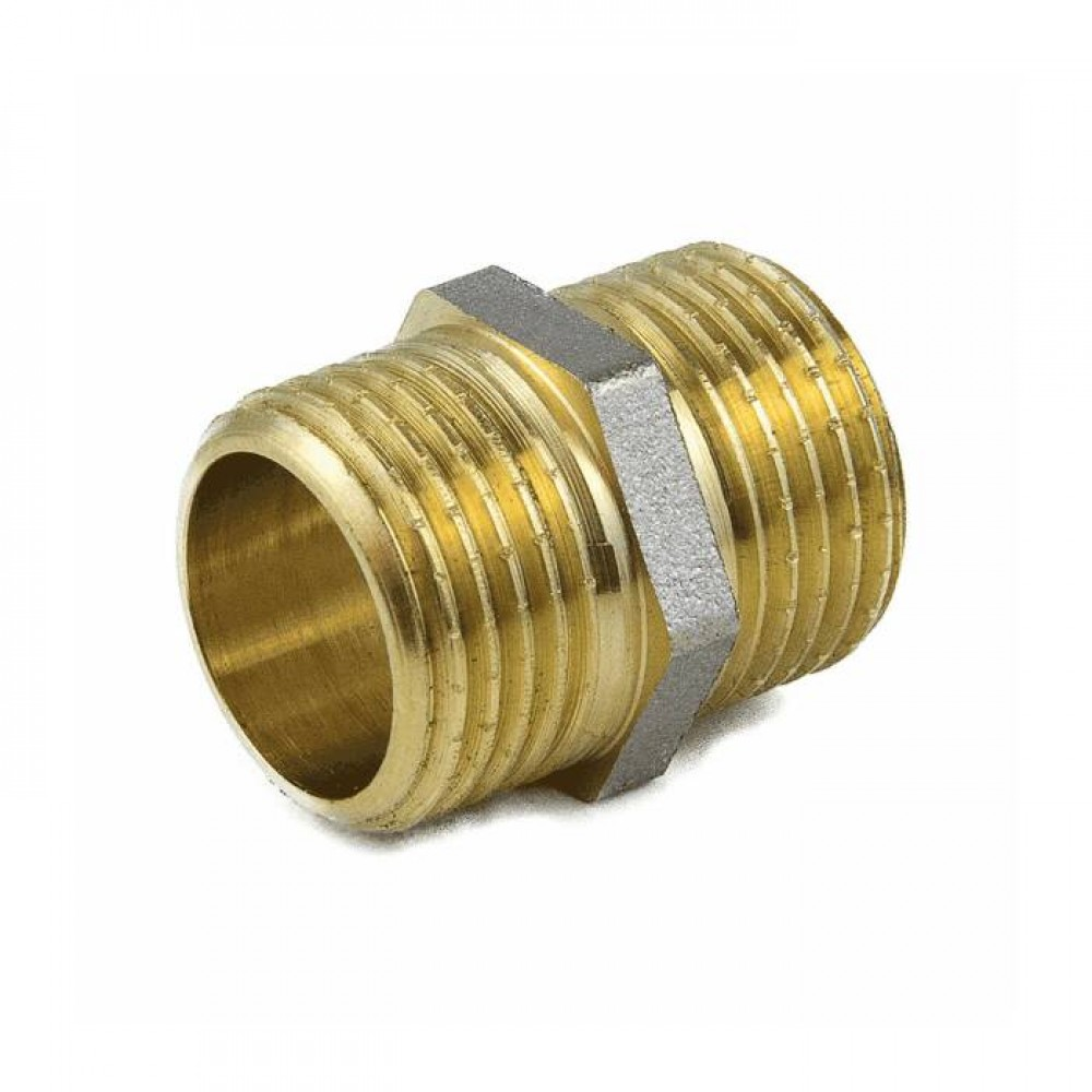 Ниппель лат Ду50 НР никель Aquasfera 9022-06