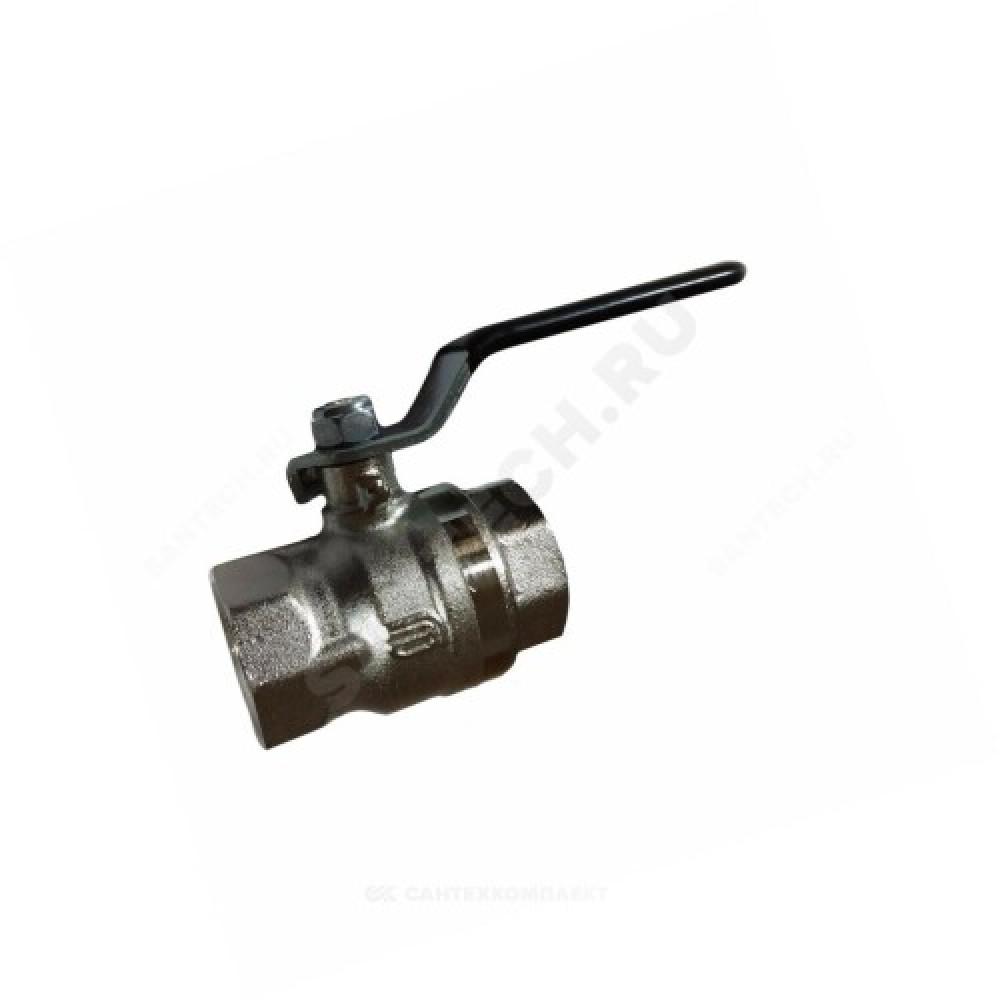 Кран шаровой латунь никель BVR-A Ду 32 Ру25 ВР полнопроходной рычаг Danfoss 065B3091
