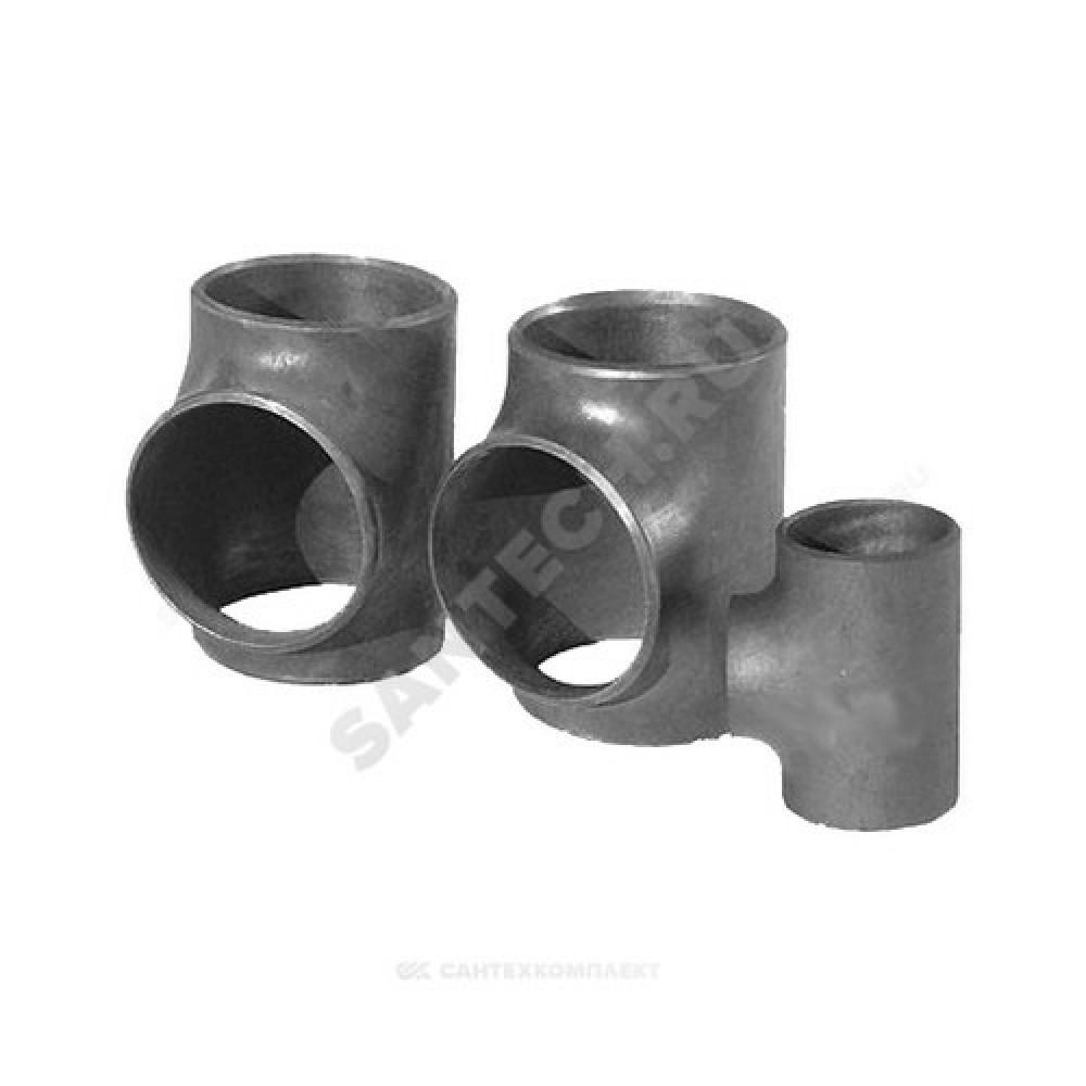 Тройник стальной переходной Дн 133х4,0-89х3,5 (Ду 125х80) под приварку ГОСТ 17376-2001