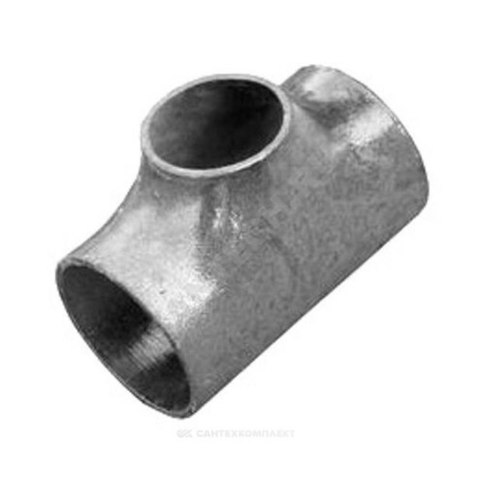 Тройник стальной оцинкованный равнопроходной Дн 45х2,5 (Ду 40) бесшовный под приварку ГОСТ 17376-2001