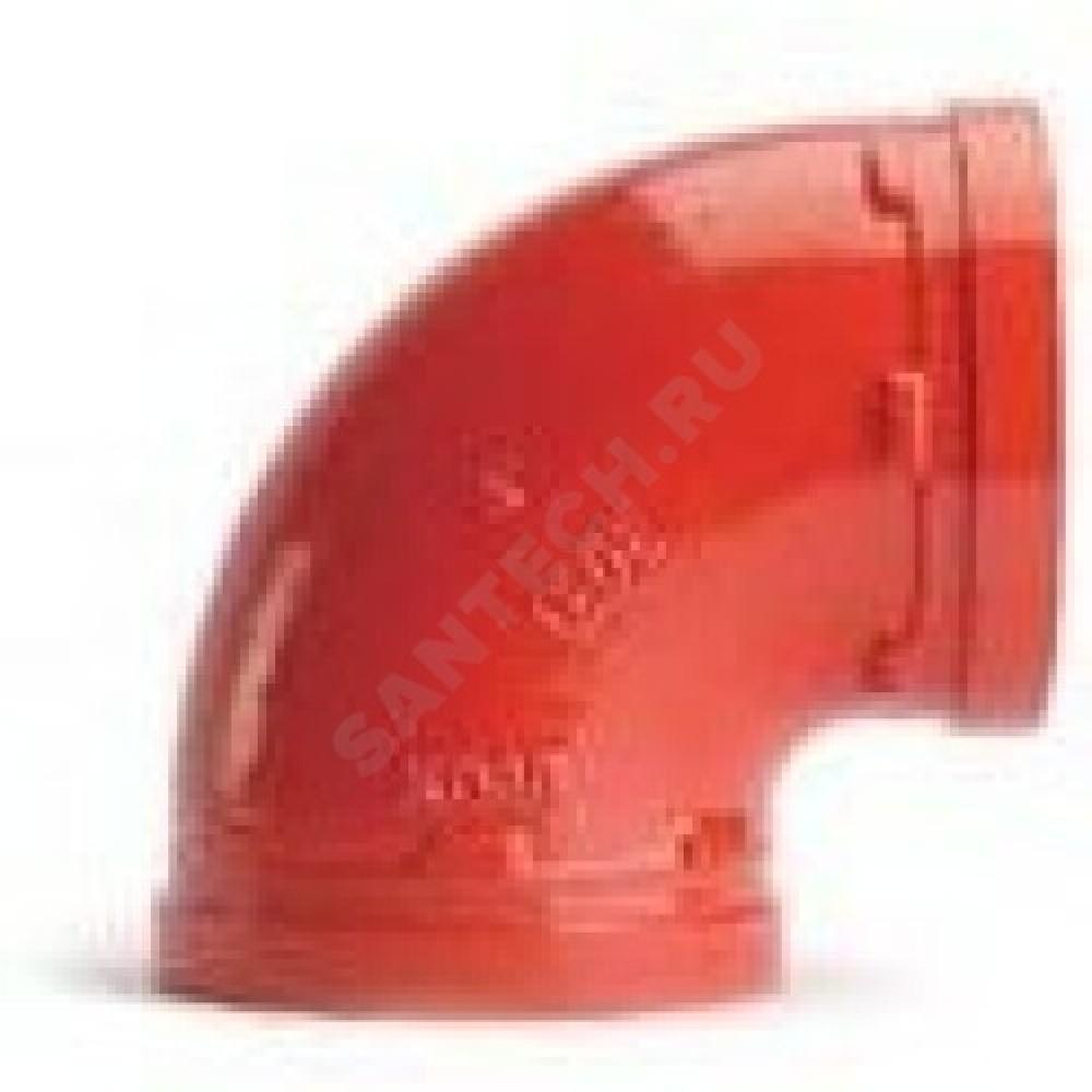 Отвод (колено) под муфту 90гр грувлок XGQT01 Ду100 (Дн114) LEDE