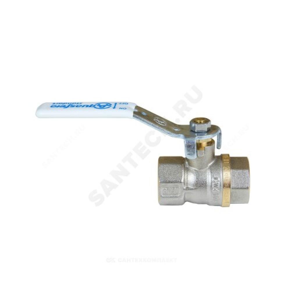 Кран шаровой латунь никель 1101 Standard Ду 25 Ру25 ВР полнопроходной рычаг Aquasfera 1101-03