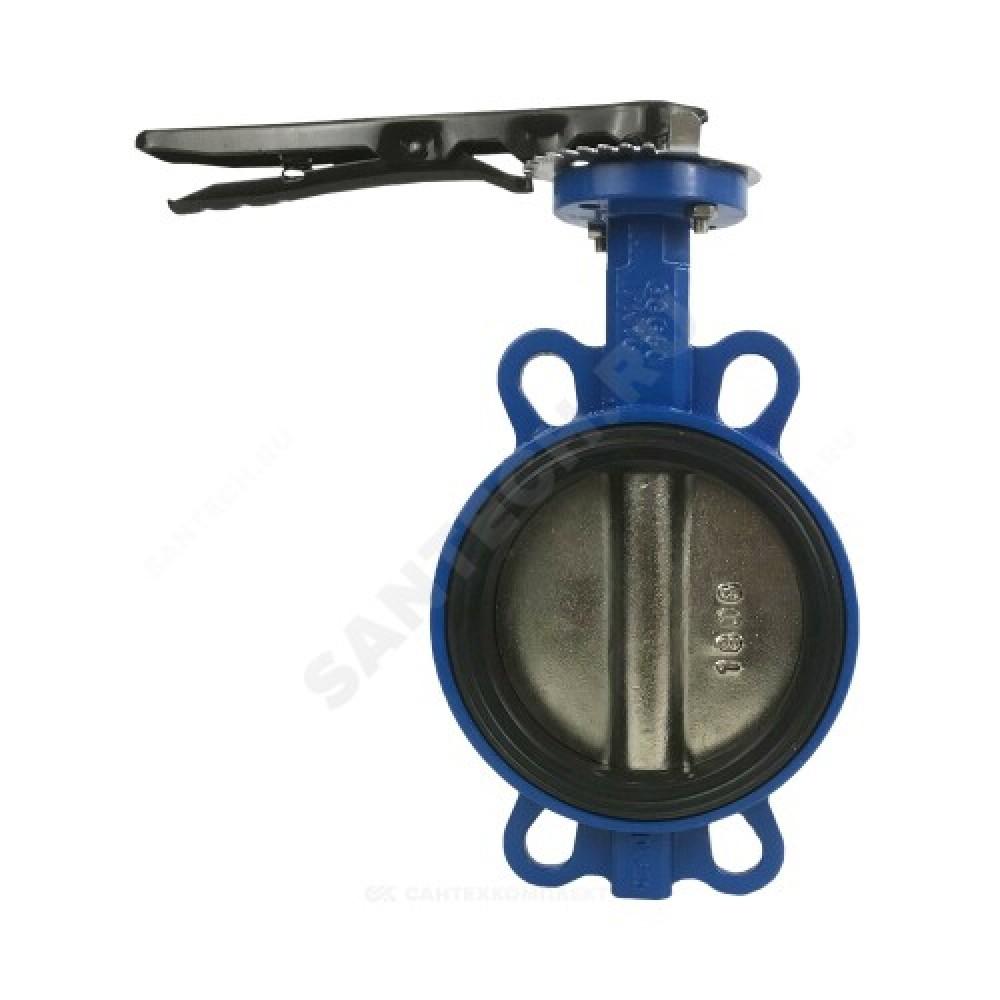 Затвор дисковый поворотный чугунный Ду 150 Ру16 межфланцевый с рукояткой диск чугунный EURO Benarmo