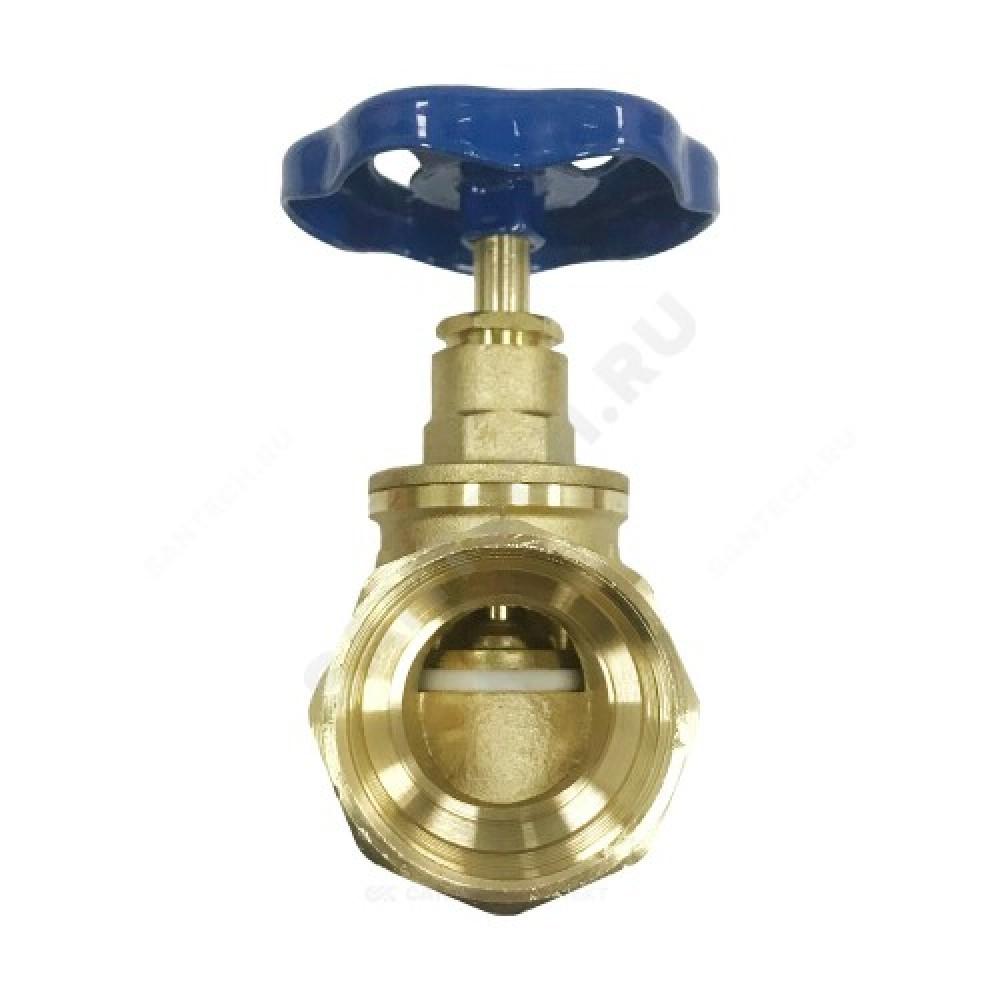 Клапан запорный латунный 15б3р Ду 25 Ру16 ВР прямой