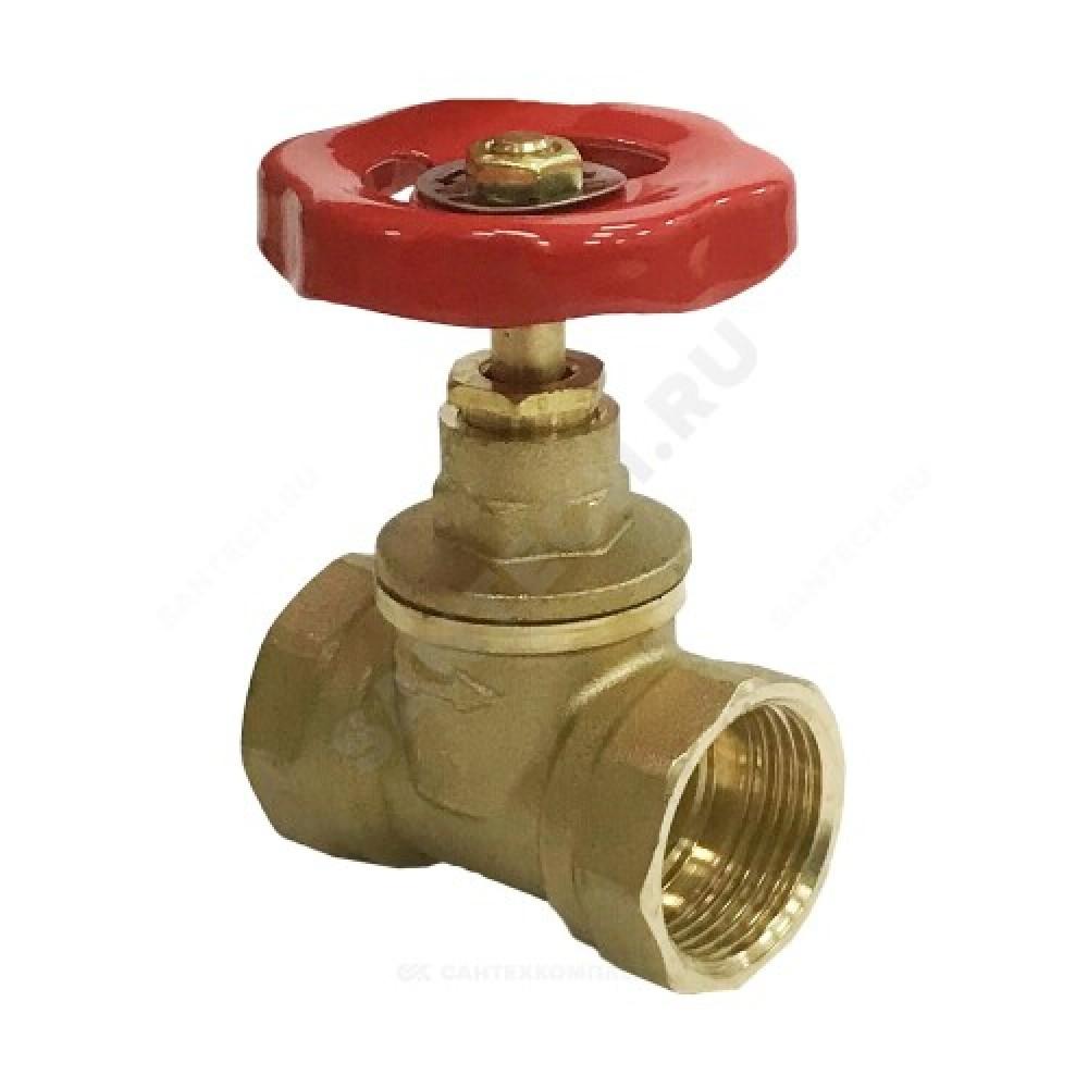 Клапан запорный латунный 15б1п Ду 20 Ру16 ВР прямой
