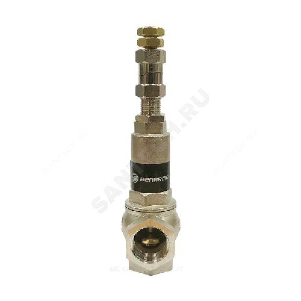 Клапан предохранительный латунь Ду20х20 Ру16 ВР/ВР Рн=1...16бар Benarmo
