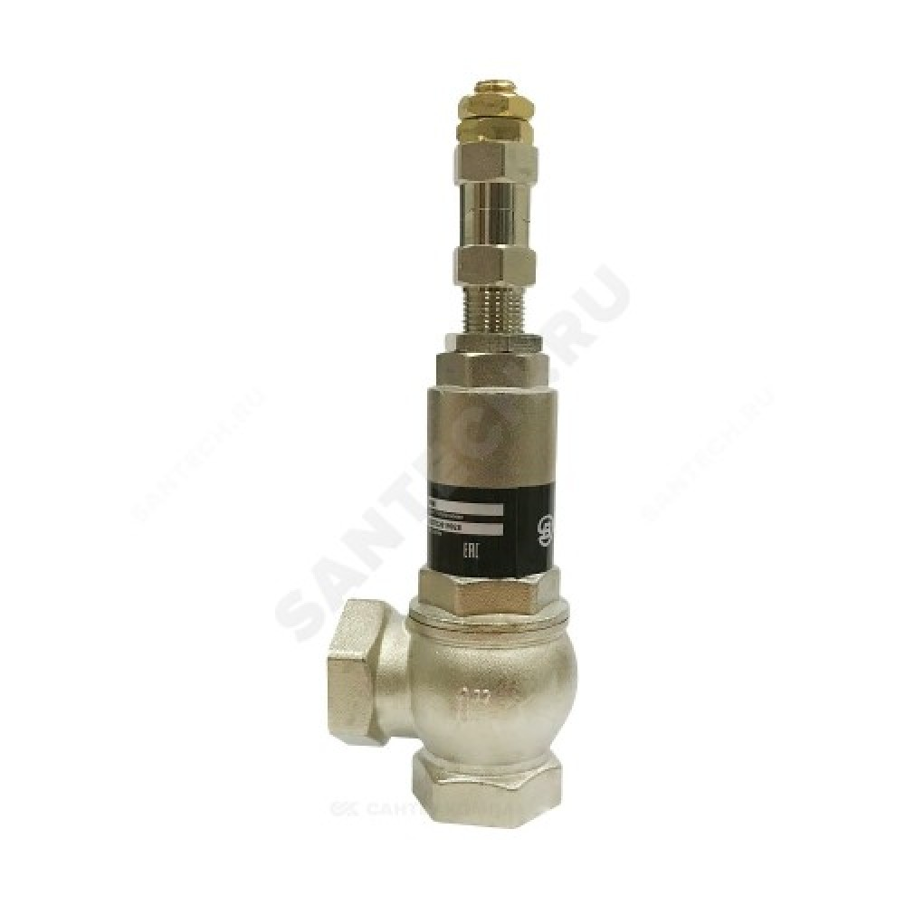 Клапан предохранительный латунь Ду25х25 Ру16 ВР/ВР Рн=1...16бар Benarmo