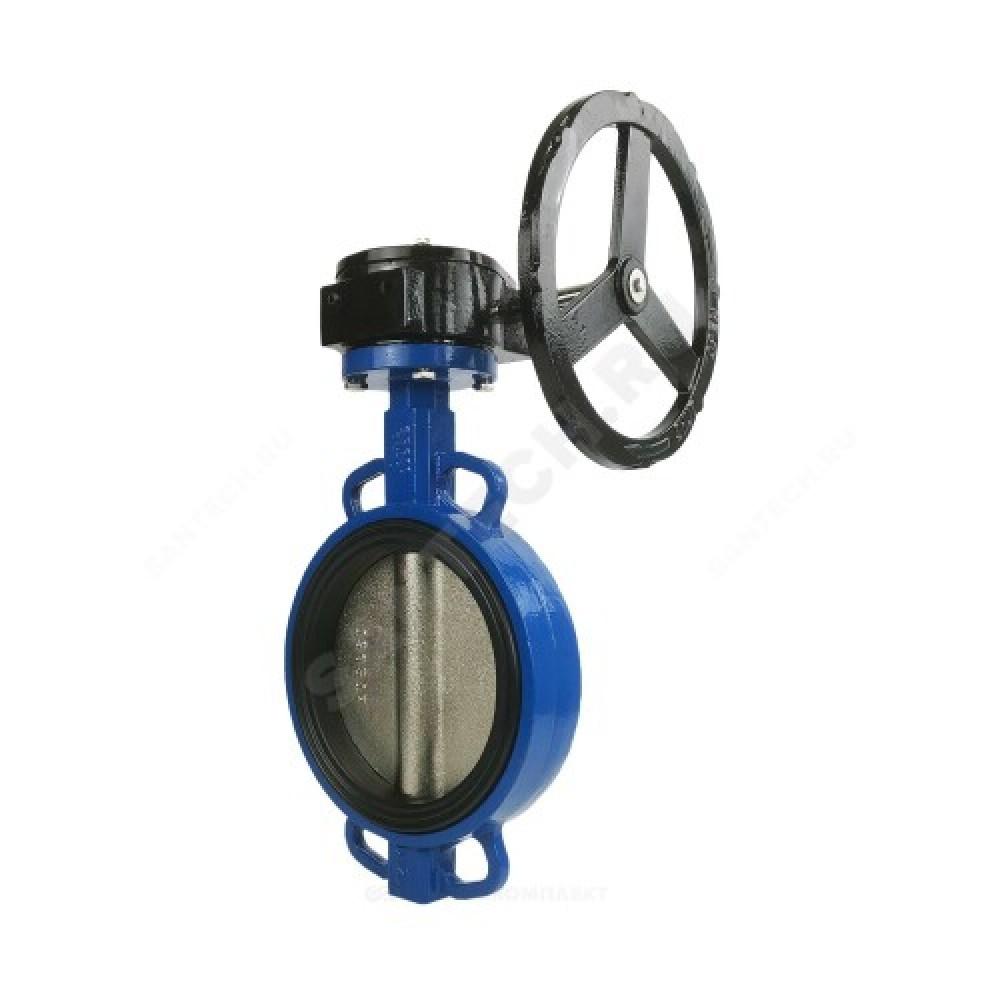 Затвор дисковый поворотный чугунный Ду 800 Ру10/16 межфланцевый с редуктором диск нерж EURO Benarmo