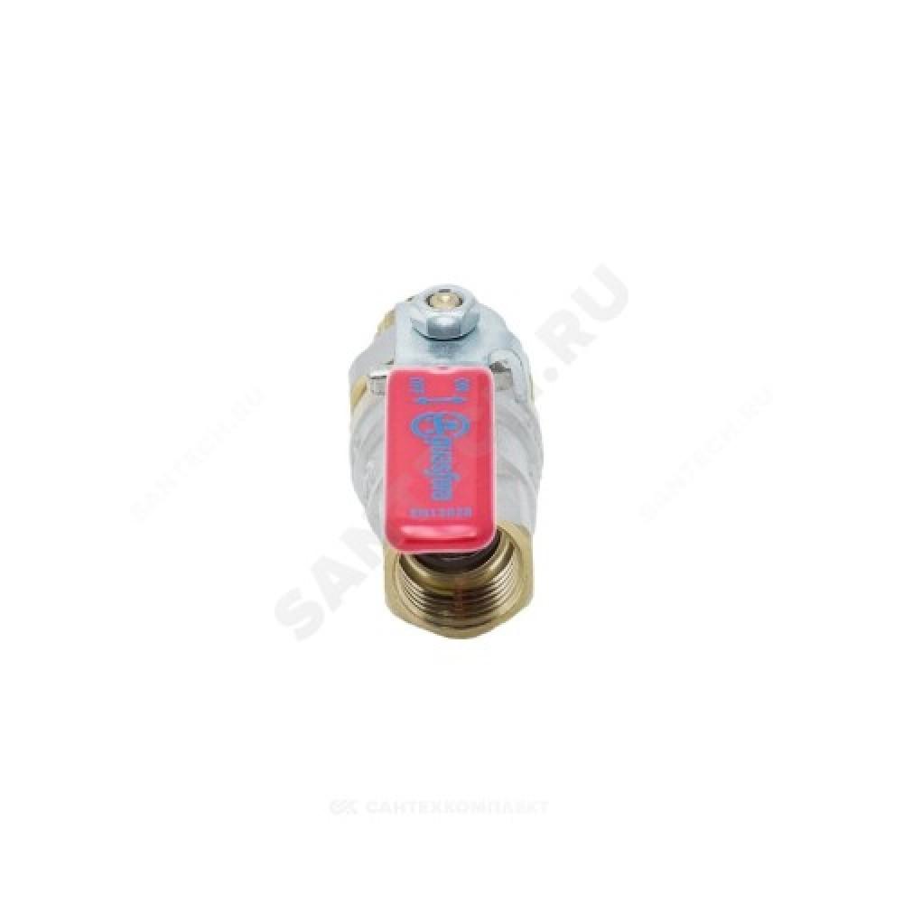 """Кран шаровой латунь никель 1006 Euro Ду 32 Ру20 ВР/""""американка"""" полнопроходной рычаг Aquasfera 1006-04"""
