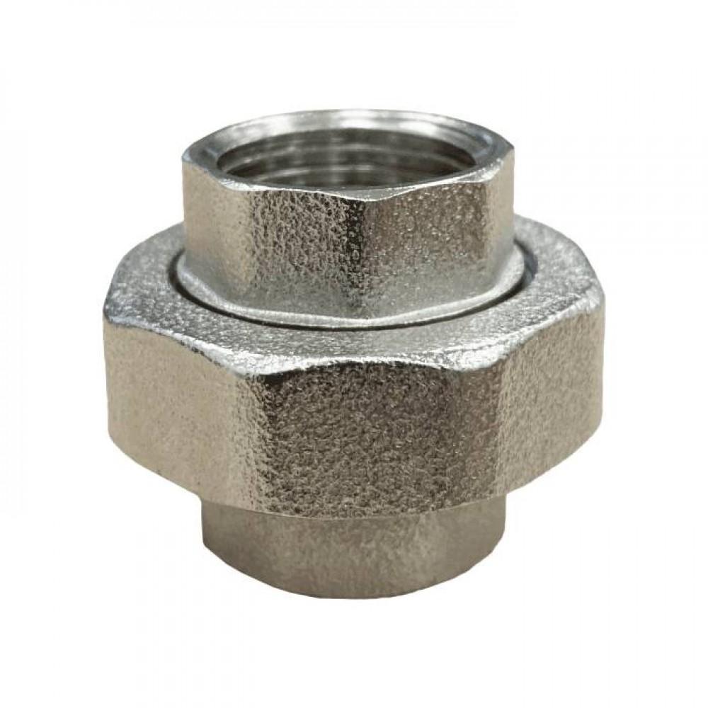 Соединитель лат американка Ду32 м/м никель .