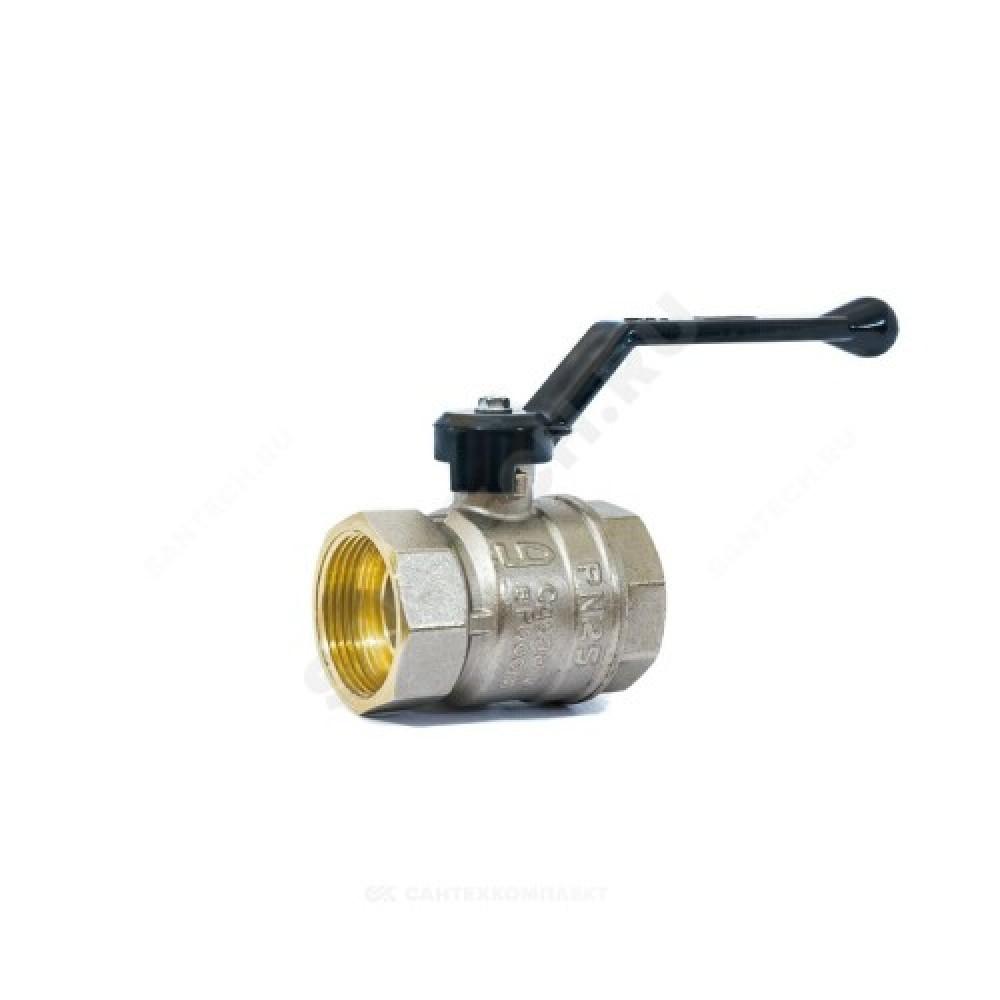 Кран шаровой латунь никель Pride Ду 32 Ру25 ВР полнопроходной рычаг  11б27п1 LD 47.32.В-В.Р ..