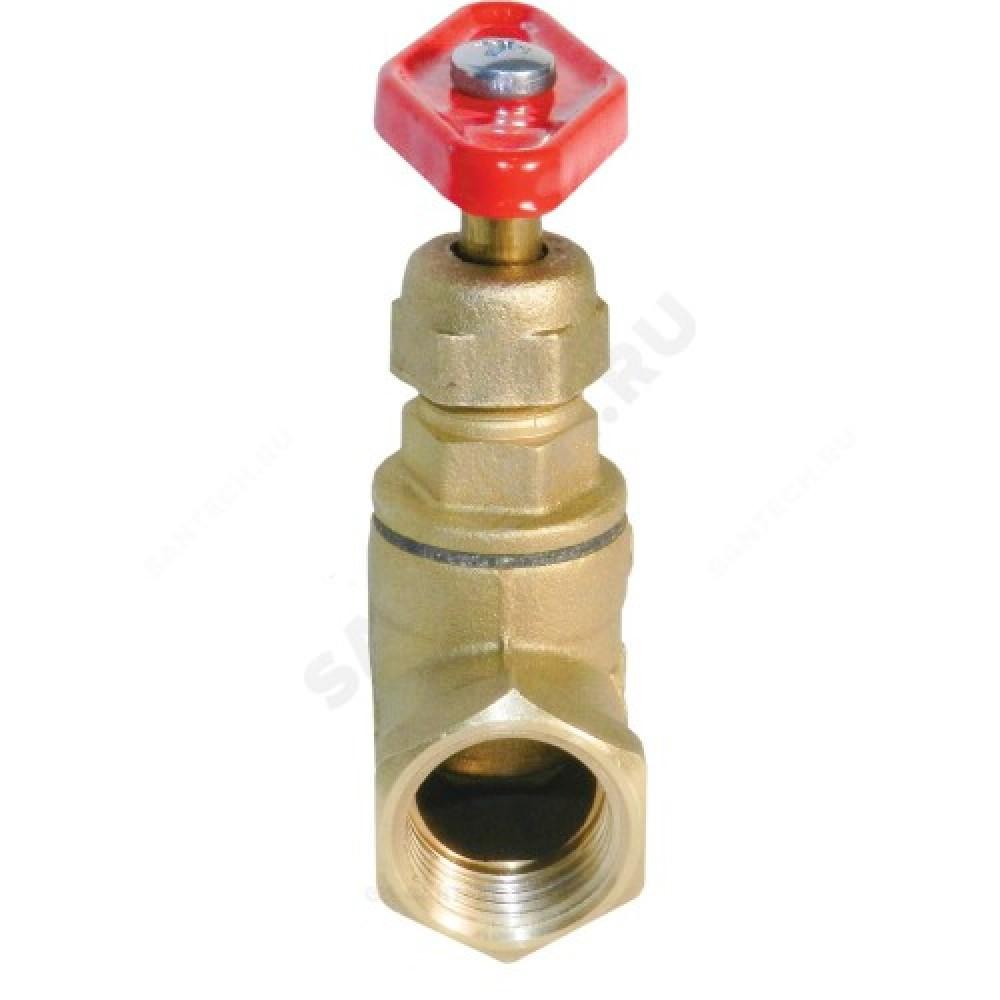 Клапан запорный латунный 15б1п Ду 32 Ру25 ВР прямой БАЗ А200мм