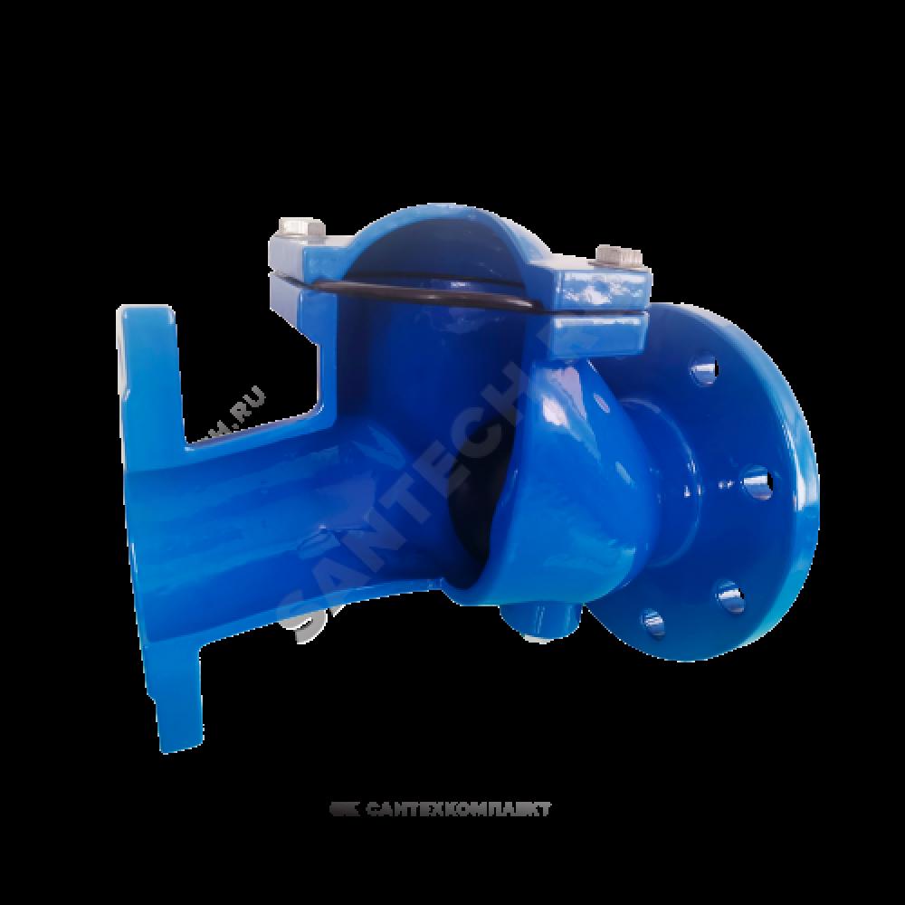 Клапан обратный чугун шаровой Ду 250 Ру10 фланцевый шар сталь+NBR Benarmo