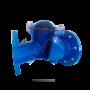 Клапан обратный чугун шаровой Ду 400 Ру10/16 фланцевый шар сталь+NBR