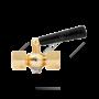 "Кран для манометра 3-ходовой латунь Ду 15 Ру25 ВР G1/2""-М20х1,5 с рукояткой без фланца ЭКОМЕРА"