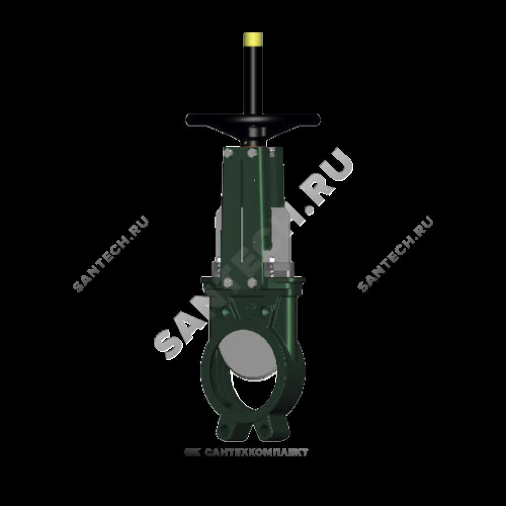 Задвижка шиберная односторонняя чугун VG4400-00NI Ду 65 Ру10 межфл со штурвалом уплотнение: нитрил Tecofi VG4400-00NI0065