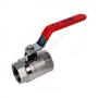 Кран шаровой латунь никель BS1143 Ду 40 Ру25 ВР полнопроходной рычаг Tecofi BS1143-0040