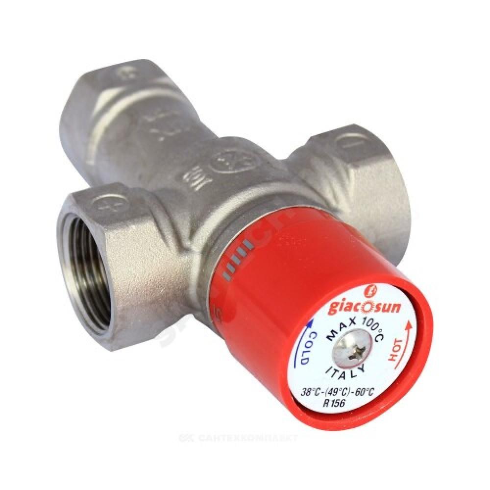 """Клапан смесительный термостатический седельный латунь R156 Ду 25 Ру16 G1"""" ВР Kvs=2.2 60С Giacomini R156X005"""
