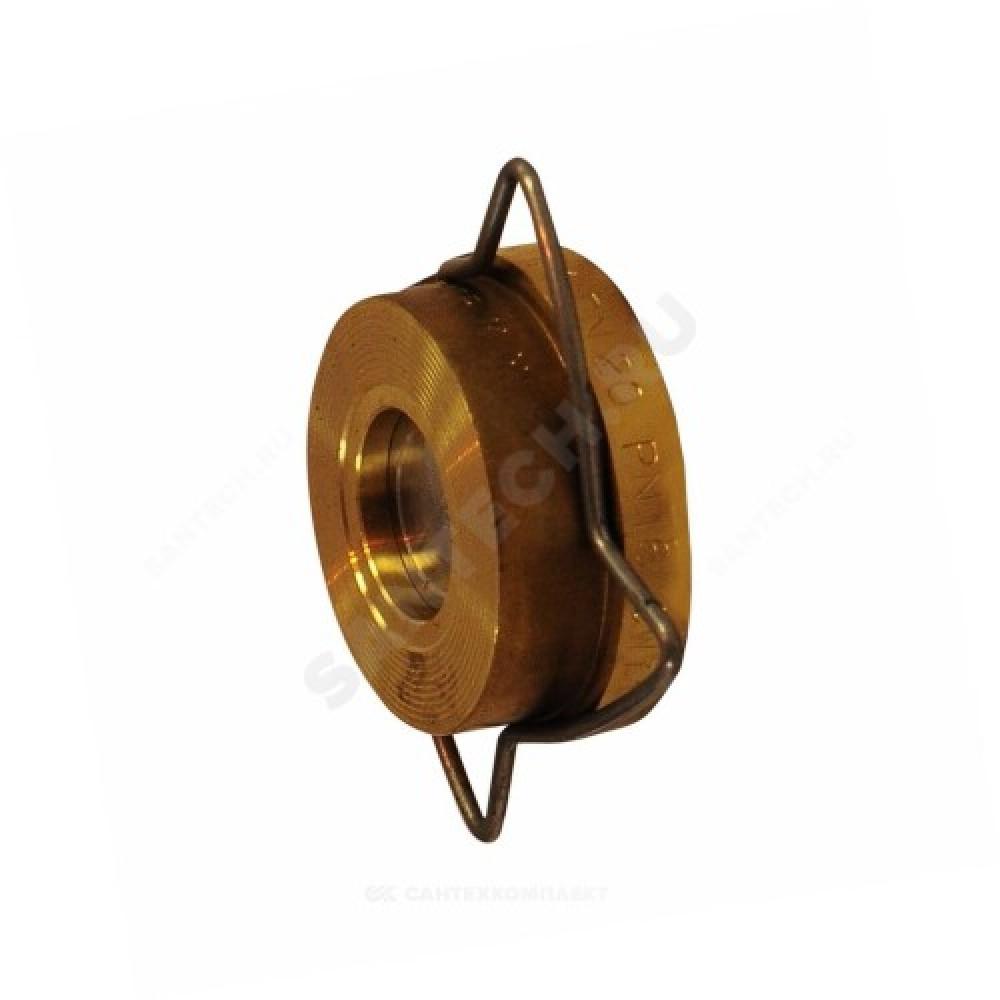 Клапан обратный латунь осевой RK41 Ду 40 Ру16 Тмакс=250 оС межфланцевый диск нерж Gestra RK41040