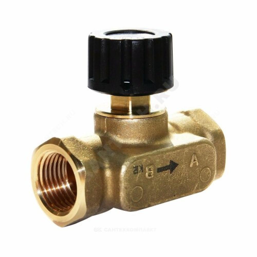 Клапан балансировочный ручной латунь USV-S Ду 32 Ру16 ВР Kvs=6.3м3/ч б/ниппелей Danfoss 003Z2234