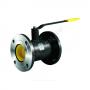 Кран шаровой стальной КШ.Ц.Ф Ду 100 Ру16 фланцевый полнопроходной L=350 LD КШ.Ц.Ф.100.016.П/П.02