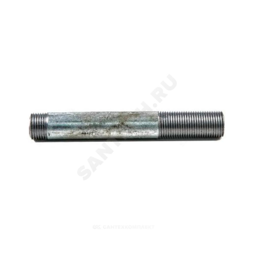 Сгон стальной удлиненный оцинкованный Ду 20 L=500мм без комплекта из труб по ГОСТ 3262-75