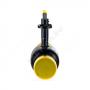 Кран шаровой стальной Ballomax КШТ 61.102 Ду 125 Ру25 под приварку ISO-фланцевый и рукоятка BROEN КШТ 61.102.125.А.25