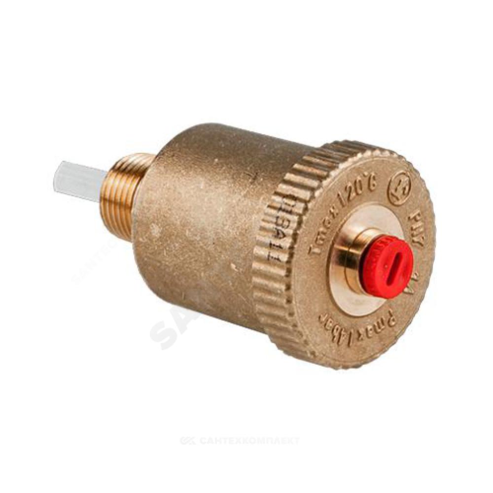 """Воздухоотводчик автоматический латунь R99I Ду 15 Ру14 G1/2"""" НР прямой с зап клап Giacomini R99IY003"""