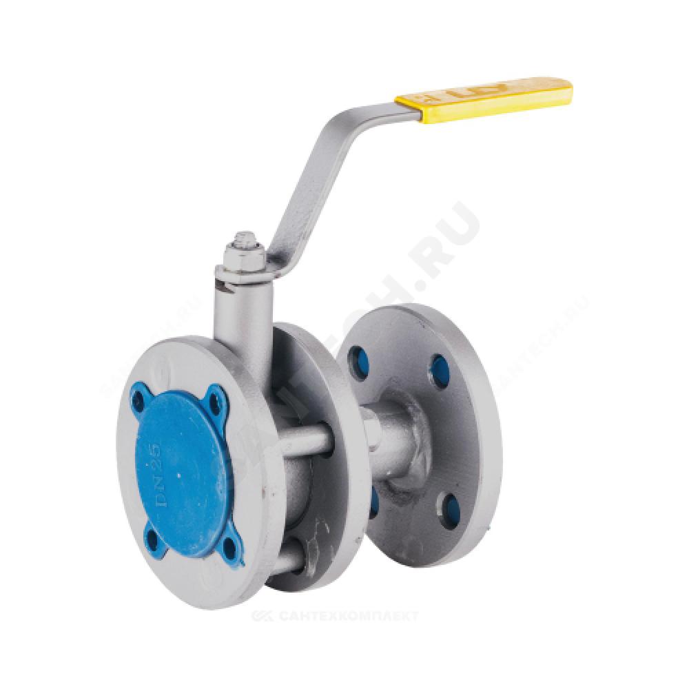 Кран шаровой стальной 11с67п Ду 40 Ру16 фланцевый полнопроходной LD КШ.Р.Ф.040.016.П/П.02
