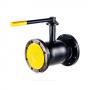Кран шаровой стальной Ballomax КШТ 61.103 Ду 125 Ру16 фланцевый ISO-фланцевый и рукоятка BROEN КШТ 61.103.125.А.16