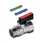 Кран шаровой латунь хром мини R694 Ду 15 Ру16 ВР/НР полнопроходной флажок с набором цветных вставок Giacomini R694X003