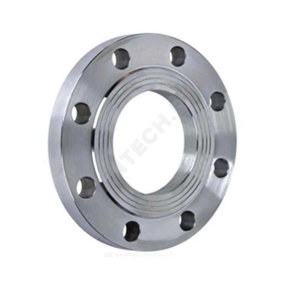 Фланец стальной 09Г2С плоский Ду 80 Ру16 тип 01 ряд 1 исп. B ГОСТ 33259-2015