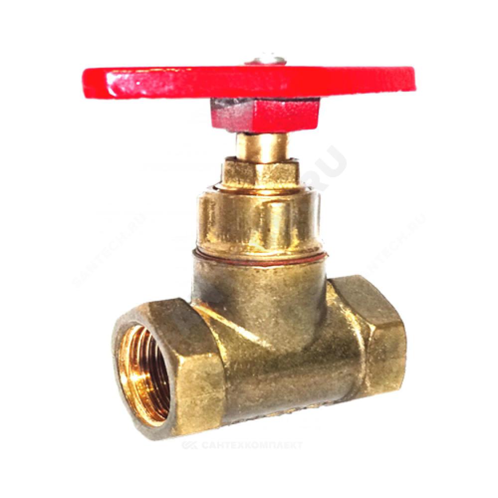 Клапан запорный латунный 15б1п Ду 32 Ру16 ВР прямой ТУ РБ 500059277.015-2000 Цветлит ZW20013