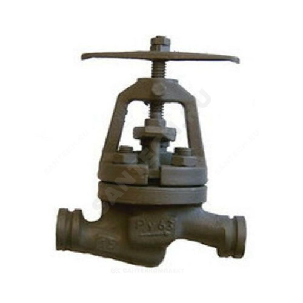 Клапан запорный стальной 15с52нж11 Ду 20 Ру63 Тмакс=400 оС фланцевый Россия КЗ 21200