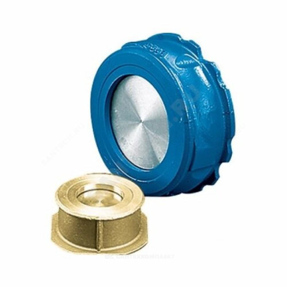 Клапан обратный латунь осевой NVD 802 Ду 32 Ру16 Тмакс=200 оС межфланцевый диск нерж Danfoss 065B7520