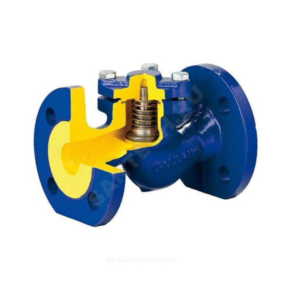 Клапан обратный чугун подъемный 287A Ду 65 Ру16 Тмакс=300 оС фланцевый золотник нерж Zetkama 287A065C31