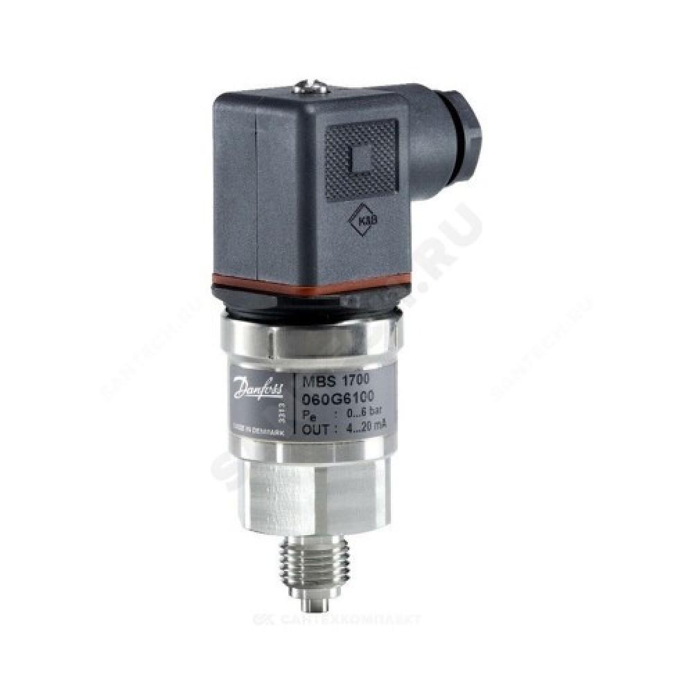 Преобразователь давл MBS 1700 0-16 бар, 4-20мA Danfoss 060G6106