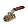 Кран шаровой латунь никель R910 Ду 50 Ру35 ВР полнопроходной рычаг Giacomini R910X028